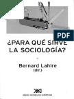 Lahier. 2002. Para Que Sirve La Sociologia