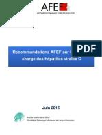 Recommandations AFEF Hépatite C Juin 2015