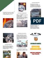 tríptico contaminación ambiental