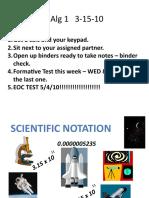 Scient Notation