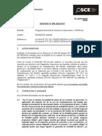 093-12 - PRE - PRONAA-Nulidad Del ContratoAnte El Vacío o Ausencia de Una Regulación Similar Cuando Se Declara La Nulidad de Un Contrato de Obra, Resulta Necesario Integrar Las Disposiciones de La Normativa