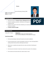 resume  with responsibity