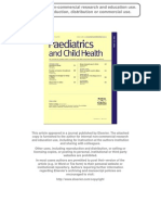 2009 RCH ALLERGY PRE-READING Prevention and Treatment of Anaphylaxis