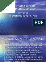 Teori Organisasi Dan Pentadbiran Pendidikan