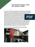 Iklan Dijual Rumah Di Bantar Jati Bogor - Hunian Mewah - Siap Huni – Nyaman - www.rumahku.com