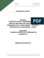 2.- Mem Descriptiva Cancha Cesped Sintetico