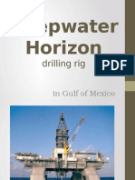 Failure of Deepwater Horizon drilling rig