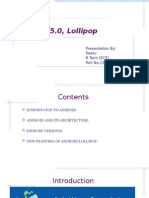 Android Lollipop Ppt