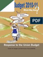 CBGA Analysis of Union Budget 2010-11(2)