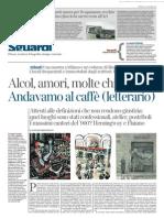 La morte dei caffé letterari - LA LETTURA 11.10.2015