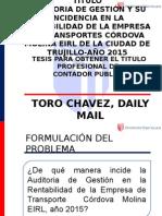 El mejor contador Toro chavez Dayli