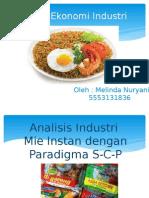 Analisis Industri Mie Instan Dengan Paradigma S-C-P h