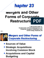 (23) Mergers & Other Forms of Corporate Restructuring