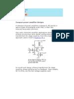 Power Amplifier Designs