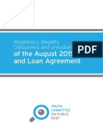 Illegitimacy, Illegality, Odiousness and Unsustainability of the August 2015 MoU and Loan Agreement_Debt Truth Committee