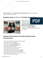Harga Jual Teh Hitam Blesstea Asli Jakarta Indonesia