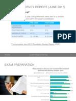 June 2015 Candidate Survey Exam Prep