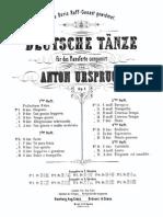 AUrspruch Deutsche T Nze Op.7 Heft2