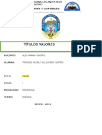 Monografia de Titulos Valores - Trinidad Villaverde