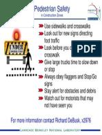 Construction Zone Pedestrian Safety