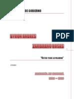 Programa de Gobierno Byron Andres Zambrano Rosas 2016-2019