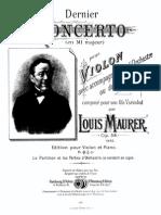 LWMaurer Violin Concerto Op.59 Pianoscore