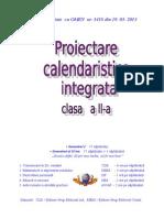 Proiectare Calendaristica Cls a II A