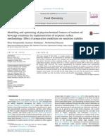 Modelamiento y optimización de las características de una emulsión por MSR