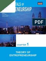 Chapter 1 Theory of Entrepreneurship