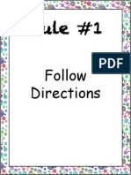 Classroom Rules Colorful Dots