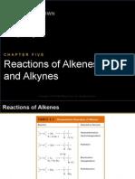 Reactions of Alkenes and Alkenes (Brown and Poon)
