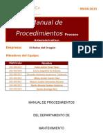 7.-Manual de Procedimientos de Mantenimiento