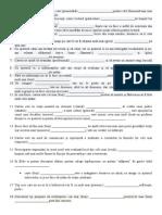 Exercitii La Acordul Adjectivului Cu Substantivul