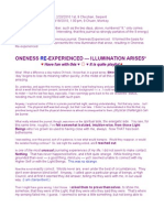Oneness Re-Exerienced - Illumination Arises