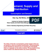 Water Consumption and Water Demand Lecture 1
