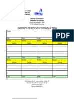 Caderneta Medida de Distância a Trena Da Poligonal 2013