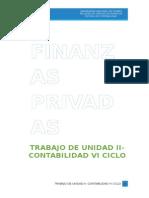Trabajo de Unidad II Finanzas Privadas