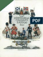Edinburgh Military Tattoo Program 1961