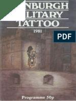 Edinburgh Military Tattoo Program 1981