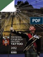 Edinburgh Military Tattoo Program 2012