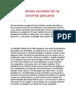 Problemas Sociales en La Economía Peruana