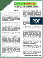 Pronunciamiento TyL Pueblo Libre - 18-10-15