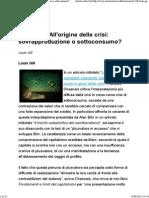 Louis Gill_ All'Origine Delle Crisi_ Sovrapproduzione o Sottoconsumo