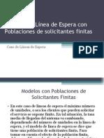 4 Modelo de Linea de Espera Con Poblacion Finita