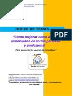 Indice de Temas Para Mejorar Como Agente Inmobiliario o Empresa