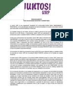 Pronunciamiento n°003 - Ante las elecciones de Rector y Vicerrectores