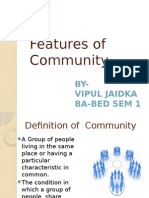 Features of Community by Vipul Jaidka