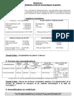 Exercices comptabilité approfondie MAROC