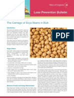 West of England Loss Prevention Bulletin the Carriage of Soya Beans in Bulk