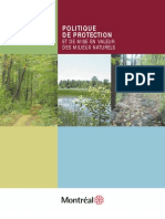 Politique de Protection et de Mise en Valeur Du Milieu Naturel